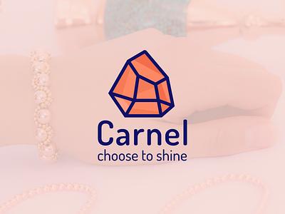 Carnel Store Branding handmade stone diamond logotype logo branding store