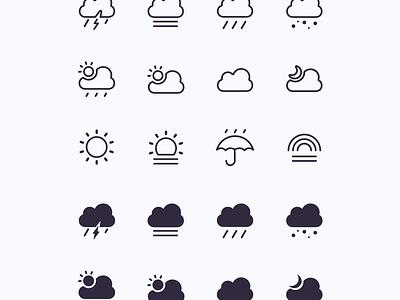 Climateli weather icon set [Free] weather icons climate climates weather illustration icon ui