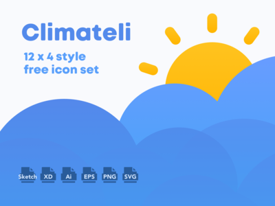 Climateli weather icon set [Free]