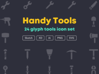 Handy tools icon set [Free]
