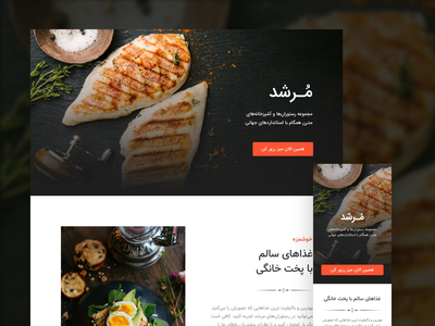 Landing page template for Landik.ir landik food restaurant template builder template design landingpage landing