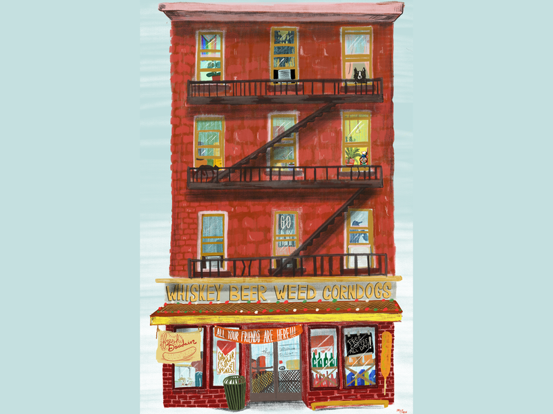 This Place Has Everything editorial illustration procreate illustration bodega