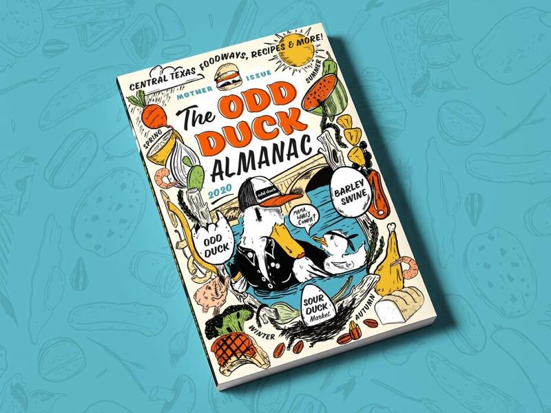 The Odd Duck Almanac food magazine cookbook illustration