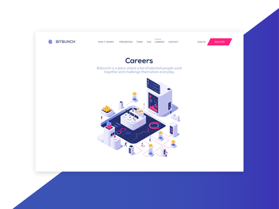 Bitbunch | Careers ux ui branding illustration landing page cssninja design modern cryptocurrency