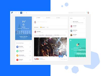 Friendkit reworked palette vector app colorful ui design template dashboard social media clean modern bulma