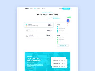 Pricing page clean modern branding illustration website landing ui design pricing bulma