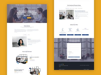 Cuantify-it landing page clean branding illustration website landing page ui design modern bulma