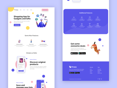Feature page clean app ui design template illustration 3d ecommerce modern bulma