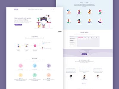 Feature page web design landing page illustration branding app clean ui design modern bootstrap