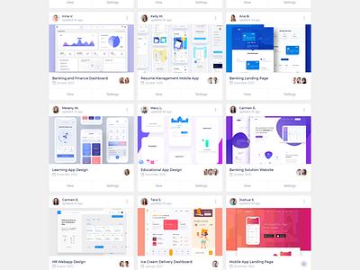 Vuero cards and widgets frontend application branding illustration web design dashboard clean vue 3 ui design bulma modern