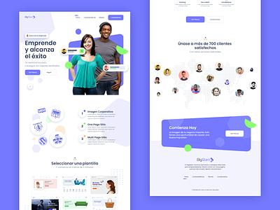 Abandonned concept web design agency landing page illustration ui clean design bulma modern