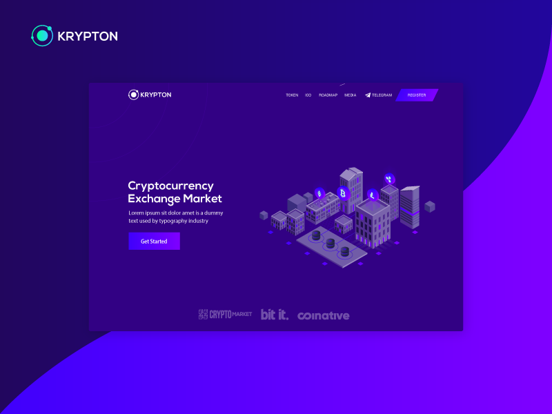 Krypton - ICO / Crypto cryptocurrency ethereum bitcoin frontend bulma ico landing page template