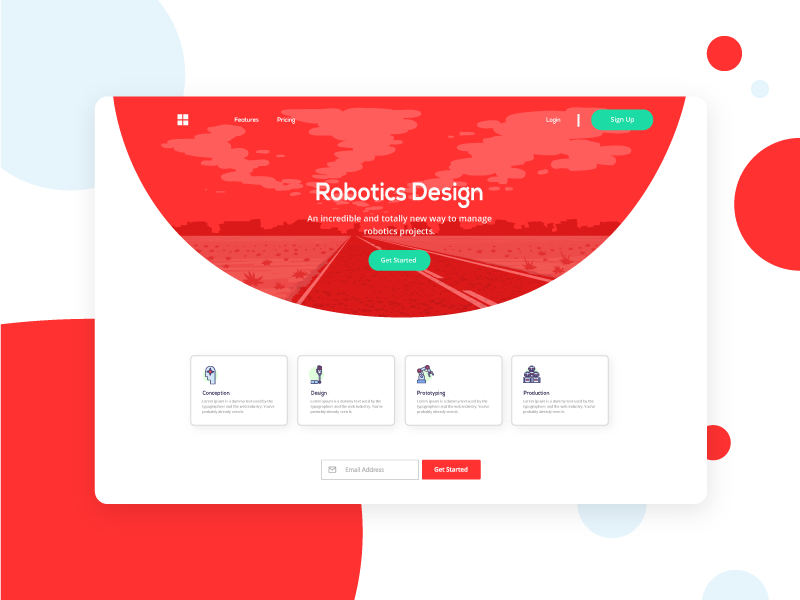 Future Bulkit Landing page modern vector illustration landing page design clean ui template frontend bulma app