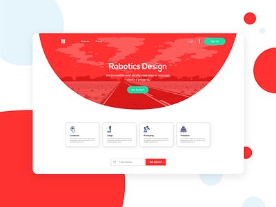 Future Bulkit Landing page modern vector illustration landing page design clean ui template frontend bulma app