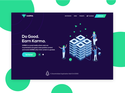 Karma | Social Media For Good landing page colorful clean bulma social network social app socialmedia crypto exchange cryptocurrency karma