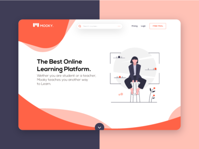 Mookie | Mook Concept bulma design landing playful modern illustrations clean shapes colorful landing page mook