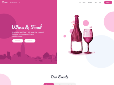 Events Landing Page