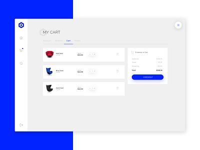 Nephos | Cart page cssninja design clean modern template ui ecommerce dashboard app bulma