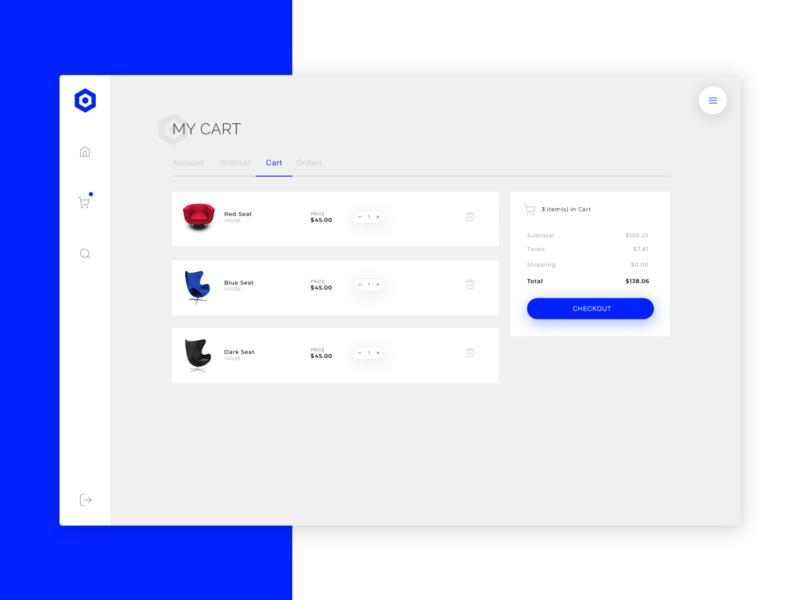 Nephos   Cart page cssninja design clean modern template ui ecommerce dashboard app bulma