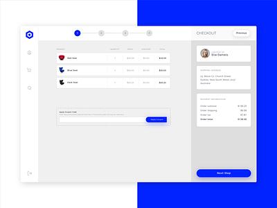 Nephos | Checkout Process illustration ui template dashboard ecommerce clean cssninja app modern bulma
