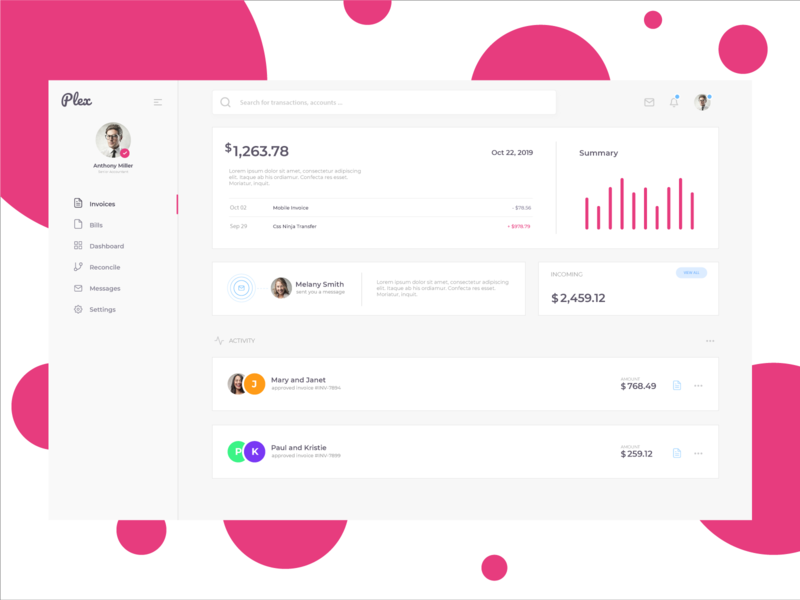 Plex   Dashboard Starter frontend ui cssninja product modern design dashboard template clean accounting bulma dashboard