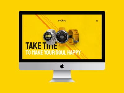 Website Design Concept For SUUNTO