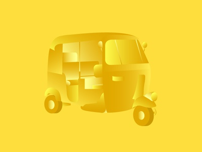 Chennai Autorickshaw - Illustration