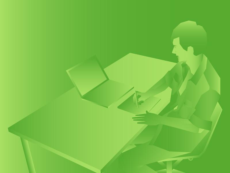 Gradient Designer ! artist wacom officespace simpleillustration boydeisgn creative designer greengradient illustration gradient