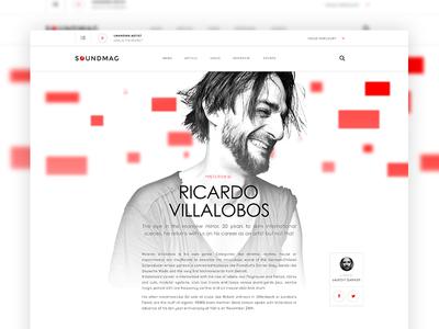 Soundmag Dribbble uiux interview digital music webdesign blog