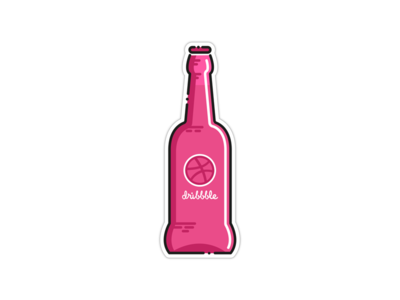 Dribbbeer Sticker playoff pack stickers illustration dribbble game