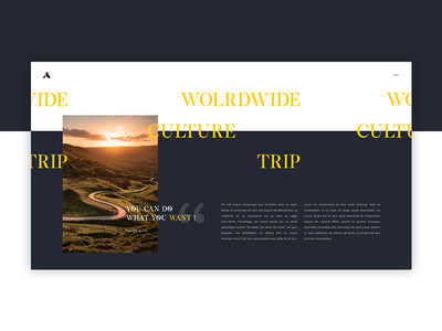 Worlwide Concept blog worldwide website ui redesign direction design concept artistique