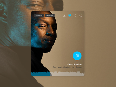 Music Player hiphop player app website ui redesign music direction design concept artistique