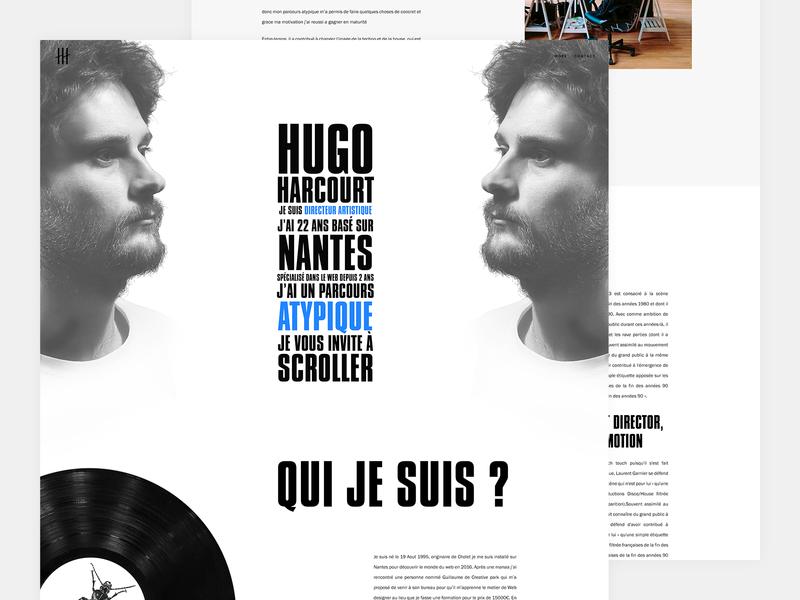 Portfolio - Hugo Harcourt branding uiux tablet mobile iphone responsive dribbble ux website interface direction design logo typography ui artistique webdesign web portfoio