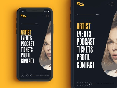 Menu Mobile Concept for Resident Advisor space nina kraviz responsive residentadvisor simple ios concept branding mobile uiux dribbble app interface web redesign music website ui artistique design