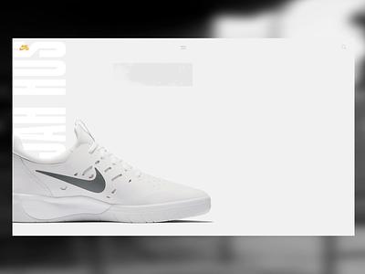Nike SB - Nyjah Huston shoes - Web Interaction animation dribbble branding app uiux interface web website direction concept ui artistique design