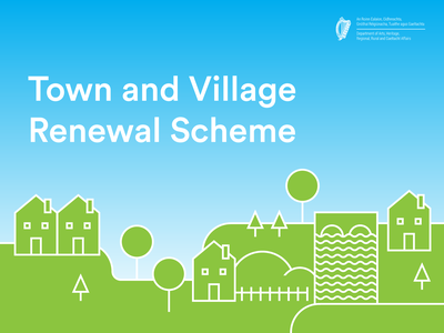 Town and Village Renewal Promo Graphic ui town village illustration
