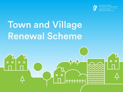 Town and Village Renewal Promo Graphic ui town village illustration