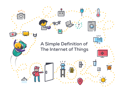 The Internet of Things devices connected objects things vector ux logo ui visuals tech digital community icon graphicdesign design illustration wia iot