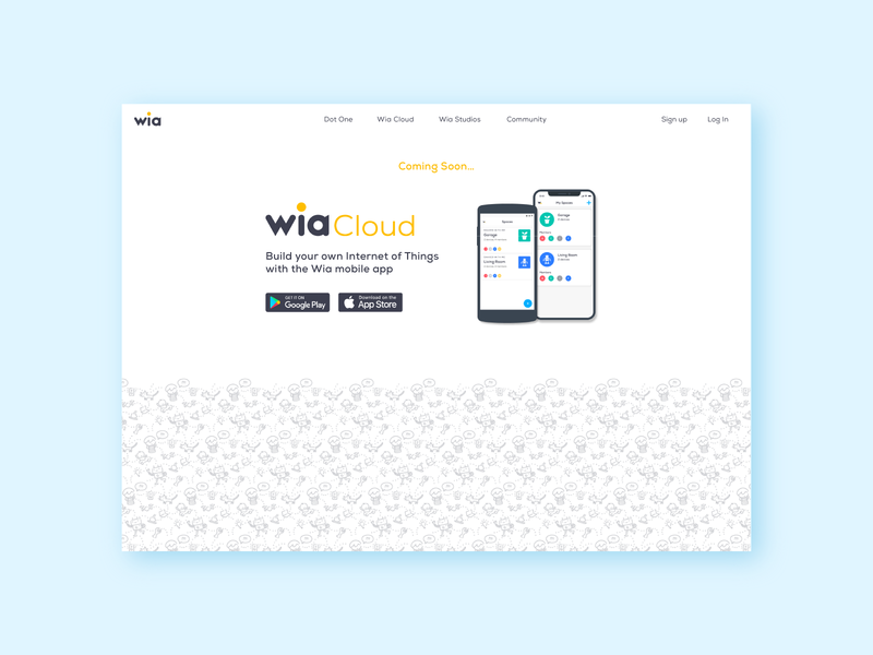 Coming soon... Internet of Things App with Wia Cloud connected devices connected android ios app typography branding ux visuals ui wia community tech vector illustration icon graphicdesign design internetofthings iot