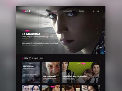 Telekom - TVGO dektop site concept design concept dektop tvgo telekom