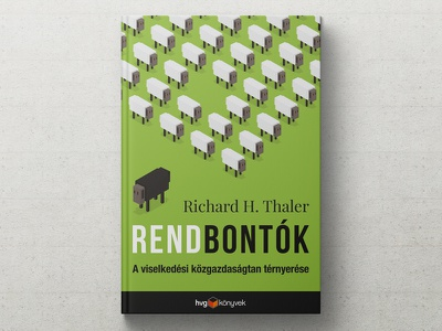 isometric sheeps misbehaving illustration cover art book cover