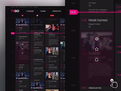 Telekom - TVGO dektop site concept tv program tvgo telekom design dektop concept