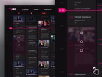 Telekom - TVGO dektop site concept