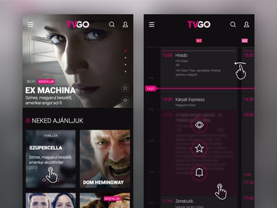Telekom - TVGO mobile site concept program tv tvgo telekom design dektop concept
