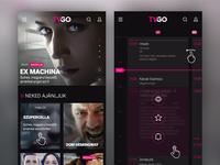 Telekom - TVGO mobile site concept
