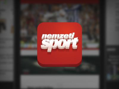 ios icon of the nemzeti sport app nemzeti sport ios icon