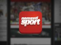 ios icon of the nemzeti sport app
