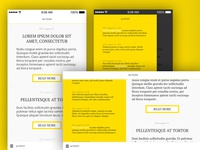 concept of a newsreader app