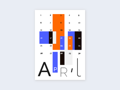 Calendar page geometric design typography graphicdesign graphic