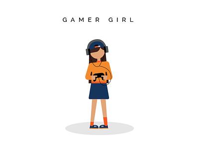 Gamer Girl  branding design character illustration